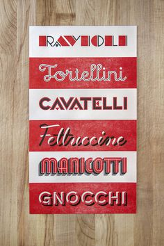 Naomie Ross & Daniel Renda: Pastosa / on Design Work Life #lettering #red #branding #pasta #typography
