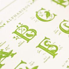 Jessica Hische — Alphabirds Print #letterpress #poster #typography