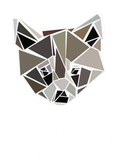 animal heads on the Behance Network #cut #raccoon #graphic #illustration #poster