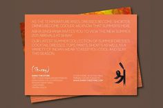 Luxury Retail Store - Shray on the Behance Network #invite #script #print #design #orange #graphic #flower #sanskrit