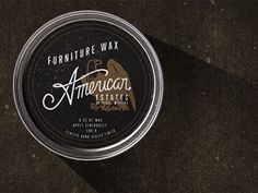 Ae_wax #tin #typography #packaging