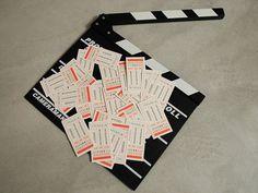 Nicola Schito Filmmaker Brand Identity on Behance #business #branding #card #brand #clapboard #identity #vintage