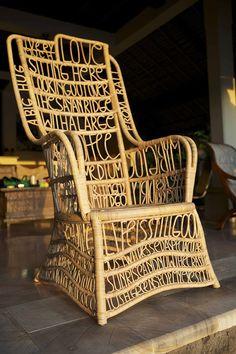 #chair #sagmeister #bali #furniture #typography