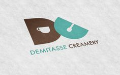 Demitasse Creamery on Behance #logo #branding #identity #packaging #cup #coffee #minimalist #ice cream #bag #demitasse