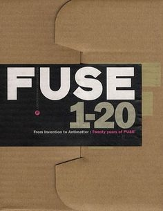 FUSE 20 Cover #fuse #editorial #typography