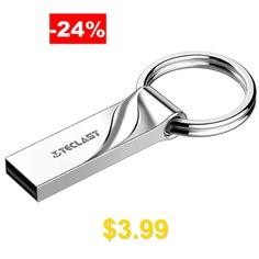 Teclast #NEX #USB2.0 #Flash #Drive #Metal #Waterproof #Keychain #U #Disk #- #SILVER