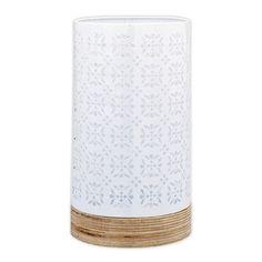 Blondell Metal / Wood Lantern, 27.5cmH x 15.5cmD