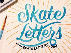 Skate Letters Launched! #typography