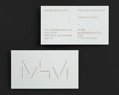 MHM ARCHITECT on Behance #card #business #stationery