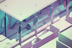 Low Poly [Isometrics] on Behance #illustration #low poly