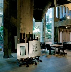 A former Cement Factory is now the workspace and residence of Ricardo Bofill | Yatzer™ #concrete #office #interiors #re #use #ricardo #factory #cement #bofill