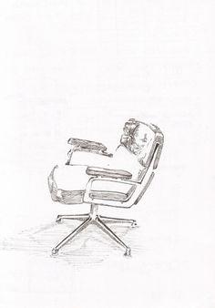 Illustration by Tuscani Cardoso #chair #design #black #illustration #furniture #art #pen #tuscani #sketch