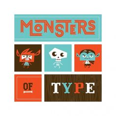 Friends of Type #monsters #illustration #typography