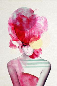 Bright Pink Part 2 Art Print #paint