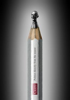 PENCILHEADS - CICERO MAGAZINE on the Behance Network #politics #sculpture