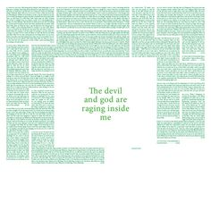 Brand New — The Devil And God Are Raging Inside Me #design #graphic #cover #lp #typography