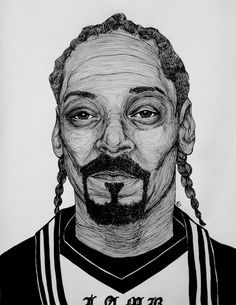 Snoop Dogg/Lion Wearing L.A.M.B. (What Were They Thinking? Series) #illustration #portrait #honey