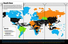good magazine death row #information #infographics #world #graphic #row #map #countries #visualization #death #chart