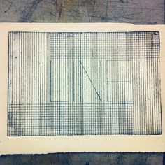 Line with Lines (intaglio) #intaglio #line #lines