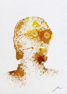 Abstract Paint Splatters of Familiar Star Wars Characters - My Modern Metropolis #c3po