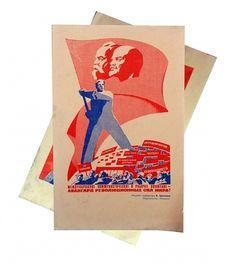 Vintage Soviet Propaganda Images 1983 USSR set by sovietreality