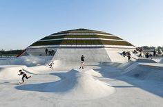 CEBRA and glifberg+lykke complete streetdome along waterfront in denmark #die #skate #or