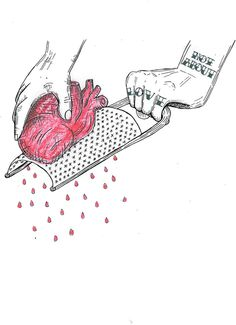 not about love #heart #red #hurt #not #illustration #tattoo #sad #bw #love