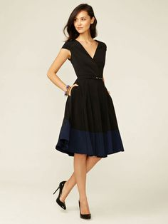 Alex + Alex Cap Sleeve Wrap Dress
