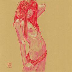 Pinups (7th Series)   rafajenn.com #pencil #sketch