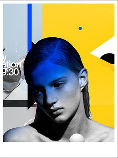 illustration by Benjamin Savignac #portrait #abstract #colors #contemporary #modern #illustrations #graphic #savignac