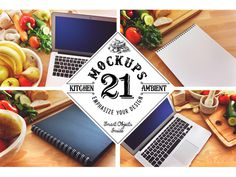 21 display-ready mockups ideal to showcase your culinary-related design. #smartobject #branding #hipster #retro #food #image #wood #vintage #hi-res #frame #mock #backround #design #header #kitchen #logo #mockup #photo #vegetables #hero #notebook #canvas #premium #display #insignia #up