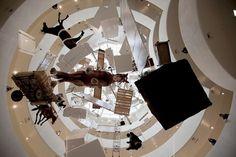 maurizio cattelan: all retrospective at guggenheim, new york #art #museum