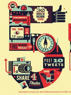 vodafone2 #illustration #design #graphic #advertising