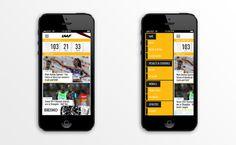 International association of athletics federations | Phileman Agence de communication et de design Nantes / Lorient #user #live #sport #interface #iphone #app #mobile #results #ios