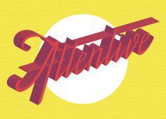 #Attentive #lettering