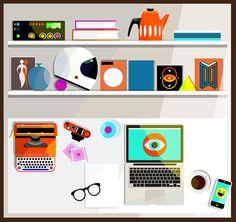 My Desk by Jamie Cullen — Agent Pekka #jamie #illustration #cullen