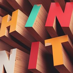 David McLeod #wooden #colourful #typography