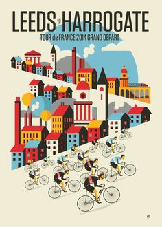 Tour de France Stage 1By Neil Stevens #illustration