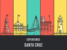 Experience Santa Cruz #illustration