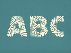 ABC Simon Ã…lander #typography