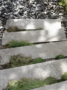 Stepping stones with moss. Attefall house of Pella Hedeby. © Kristofer Johnsson. #steppingstone