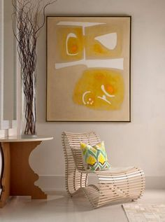 Abstract painting in artistic and modern interior