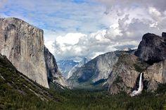 Tunnel View, Yosemite. #mountain #yosemite #rock #dome #cliff #half