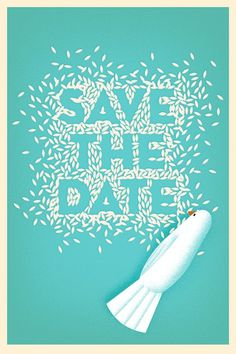 Save the Date #dove #chimero #marriage #rice