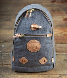 ryanmat: Yuketen Triangle Backpack in Grey Heather Wool #backpack #jean #leather