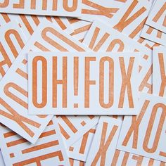 Oh!Fox by Chelsea Fullerton #handcrafted #design #graphic #type #typography