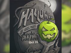 Applegarden Crop #illustration #design #graphic #halloween