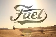 Fuel by BMD #watercolor #script #motorcycles