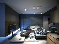 Modern Urban Home Design by Andrey Dmitriev - #livingroom, #decor, #interior, home, living room