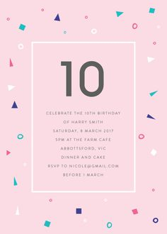 Pastel Neon - Birthday Invitations #birthday #invitation #birthdayinvitation #birthdayinvitationkids #paper #cards #digitalcard #design #pr